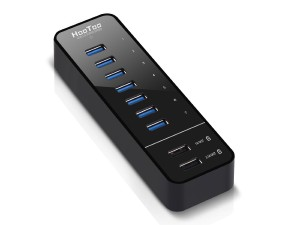 USB 3.0 Hub, HooToo 7 Port Hub with 2 Smart Charging Ports