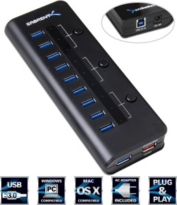 Sabrent High Speed 10 Port USB 3.0 HUB + 5V 2A Smart Charging Port