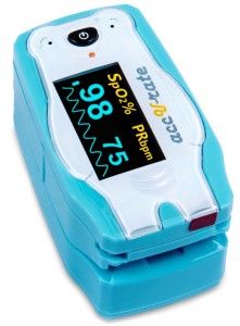 Acc U Rate® children digital finger pulse oximeter with adorable animal theme