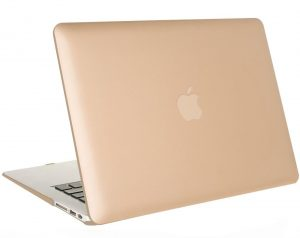 Mosiso MacBook Air Case, Soft-Touch Plastic Hard Shell Snap On Case Cover (Gold)