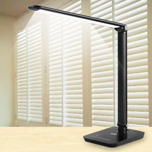 LE® Dimmable LED Desk Lamp, 7 Dimming Levels, Eye-care, 8W, Touch Sensitive, Daylight White, Folding Table Lamps, Reading Lamps, Bedroom Lamps