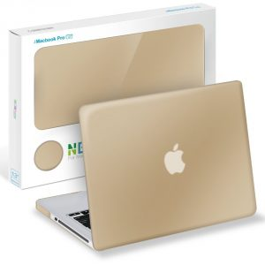 Neon Party (TM) Series iBenzer Smooth Finish Plastic Hard Case Cover for Macbook Pro 13'' inch WITH CD-ROM, Gold MPN13GD