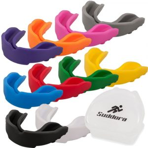 Suddora Mouth Guards - Protective Sports Safety Gear w/ Vented Case